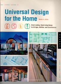 The cover of Universal Design for your home is shown here. Mr schwabs work was included within this book.