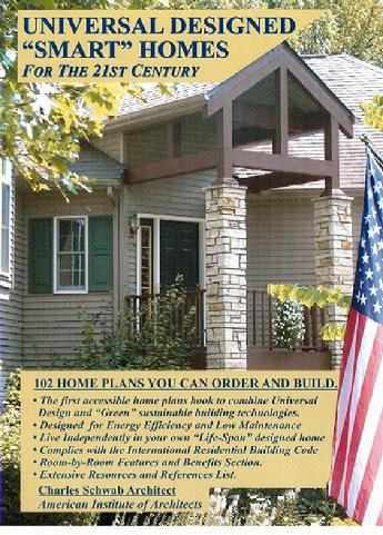 the home featured on the book cover is a universal design smart home designed by mr - Universal Design Homes