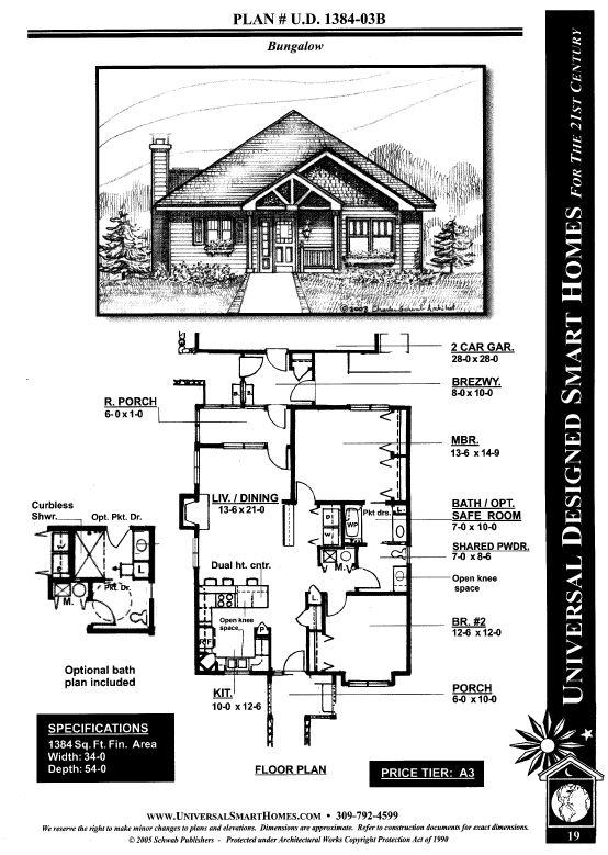 Universal design smart homes for Universal design floor plans