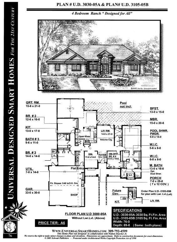 Universal design homes floor plans for Universal design house plans